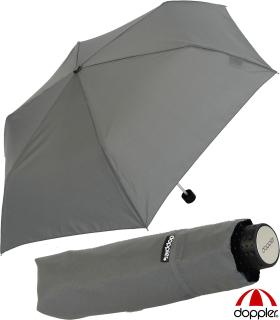 Doppler Regenschirm Mini- Taschenschirm Havanna Stick - sturmfest grau