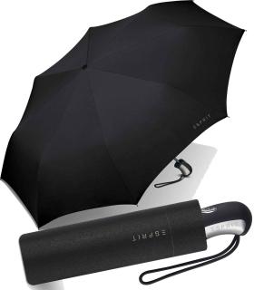 Esprit Regenschirm Taschenschirm Easymatic 3 Auf-Zu Automatik uni black - schwarz
