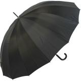 Golf Regenschirm Partner-Schirm XXL - 16 teilig schwarz