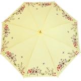 Sonnen und Regenschirm UV Schutz Lady Butterfly long gelb