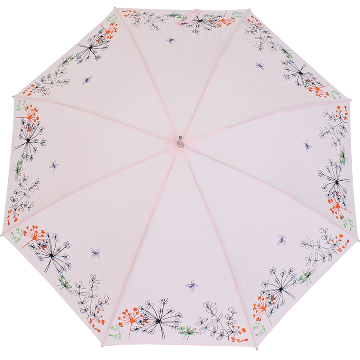 sonnen und regenschirm uv schutz lady butterfly long rose 28 99 eur. Black Bedroom Furniture Sets. Home Design Ideas