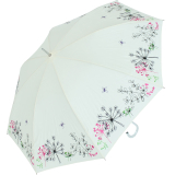 Sonnen und Regenschirm UV Schutz Lady Butterfly long cremeweiss