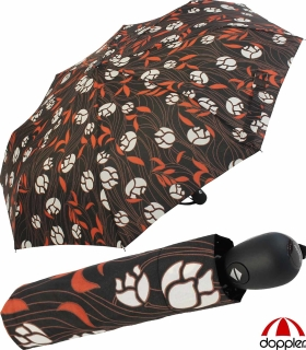 Doppler Regenschirm Magic Fiber Auf- zu Automatik - Style Flower orange