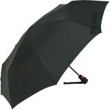 Knirps Regenschirm Fiber T1 AC Taschenschirm - sturmsicher schwarz
