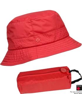 Klassischer Regenhut mit schmaler Krempe - Knirps Traveller rot