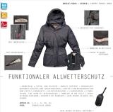Sportlicher Herren Regen- Parka - Regenjacke - Knirps BREEZE 2012 schwarz