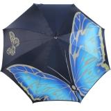 Doppler Manufaktur Regenschirm Elegance Noblesse Butterfly blau