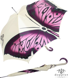 Doppler Manufaktur Regenschirm Elegance Noblesse Butterfly creme