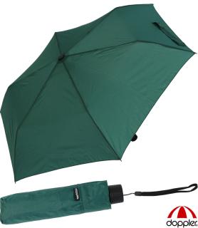 Doppler Regenschirm Mini- Taschenschirm Havanna Stick - sturmfest grün