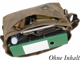 Postbag Joel Gr.XL - 3tgl. Leder Büro Tasche Schultertasche Umhängetasche LandLeder Vintage Anatomy