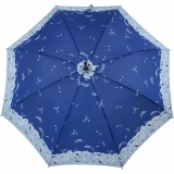 Regenschirm Stockschirm Stützschirm Fritzgriff kariert groß stabil Damen Herren schwarz-blau