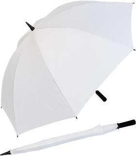 Golf Schirm XXL Partner- Regenschirm Fiberglas Birdie Stabgriff weiß