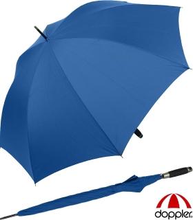 Regenschirm Portierschirm Golf Schirm Partnerschirm Stabgriff - Fiberglas XXL blau