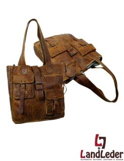 LandLeder Shopper-Bag JAMA - Shoppertasche in Ordnergröße- Rugged-Hide Leder natural