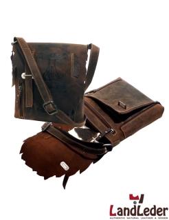 Casual-Bag DALKI - praktische Leder Umhängetasche - LandLeder Vintage Anatomy