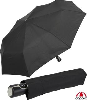 Doppler Regenschirm Magic-Mini - Damen Herren Taschenschirm mit Auf-Zu Automatik schwarz