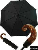 Pierre Cardin Herren- Taschen- Regenschirm Wood -...