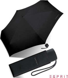 Esprit Regenschirm Mini Petito manual  black
