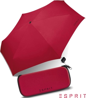 Esprit Regenschirm Mini Esbrella manual flagred