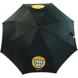 Regenschirm Stockschirm Automatik Schirm bedruckt - Smiley World zeigt Zähne