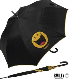 Regenschirm Stockschirm Automatik Schirm bedruckt - Smiley World zeigt Zunge