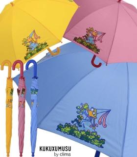 Kinderschirm Automatik Regenschirm - Kukuxumusu - Große Froschliebe