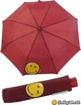 Regenschirm Mini Automatik Schirm bedruckt Smiley World -...