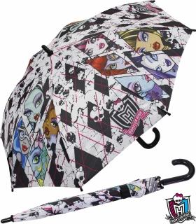 Kinderschirm Automatik Regenschirm - Monster High - shattered white