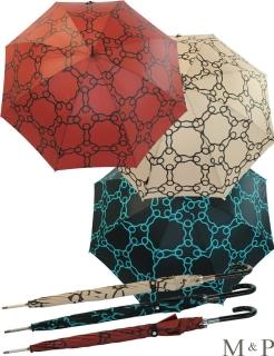 M&P Damen Regenschirm Long stabil Automatik Geometrico