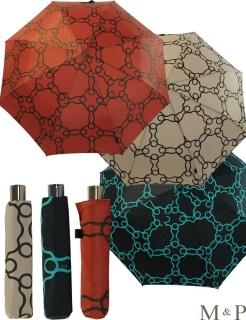 M&P Taschenschirm Mini Regenschirm stabil Auf-Zu-Automatik Geometrico