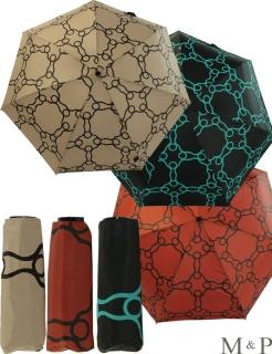 M&P Super Mini Taschenschirm - Regenschirm klein leicht - Geometrico