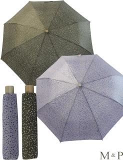 M&P Taschenschirm Mini Regenschirm stabil Auf-Zu-Automatik Puma - kleine Punkte