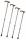 M&P Teleskop Gehstock Spazierstock höhenverstellbar aus Leichtmetall mit Holzgriff