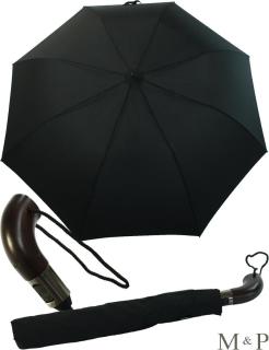 M&P Taschenschirm XXL - Regenschirm mit Auf-Zu-Automatik schwarz