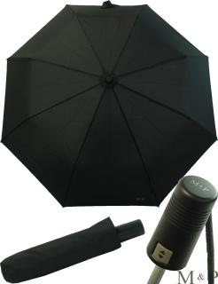 M&P Herrenschirm stabil - Regenschirm mit Sicherheits-Verschluss - schwarz
