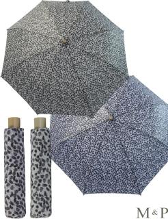 M&P Taschenschirm Mini Regenschirm stabil Auf-Zu-Automatik Puma - Striche