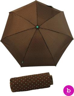 Bisetti Regenschirm Super Mini Taschenschirm Topos dunkelbraun