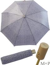 M&P Taschenschirm Mini Regenschirm stabil Auf-Zu-Automatik Puma - kleine Punkte blau