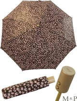 M&P Taschenschirm Mini Regenschirm stabil Auf-Zu-Automatik Puma - Tupfen flieder