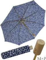 M&P Taschenschirm Mini Regenschirm stabil Auf-Zu-Automatik Puma - Tupfen blau