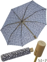 M&P Taschenschirm Mini Regenschirm stabil Auf-Zu-Automatik Puma - Striche blau