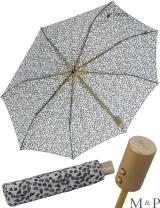 M&P Taschenschirm Mini Regenschirm stabil Auf-Zu-Automatik Puma - Striche grau
