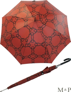 M&P Damen Regenschirm Long stabil Automatik Geometrico terracotta