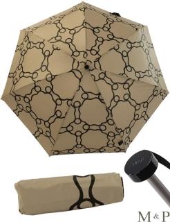 M&P Super Mini Taschenschirm - Regenschirm klein leicht - Geometrico beige