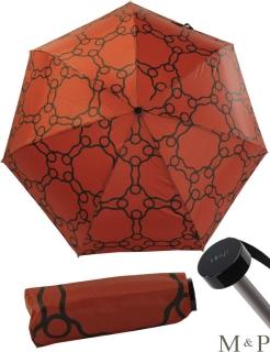 M&P Super Mini Taschenschirm - Regenschirm klein leicht - Geometrico terracotta