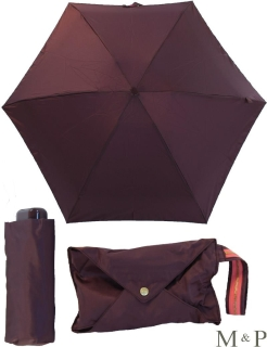 M&P Super Mini Regenschirm klein und leicht mit Handtasche lila