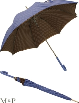 M&P Damen Stockschirm - Regenschirm Automatik Doppelbespannung - Topos Doble blau