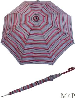 M&P Damen Regenschirm Long stabil Automatik Rayas lila