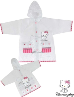 Kinder Regenjacke Charmmy Kitty - Hello Kitty - transparent pink