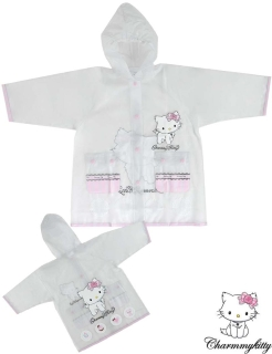 Kinder Regenjacke Charmmy Kitty - Hello Kitty - transparent rosa Gr. 8 - 128